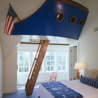 Maritimes Kinderzimmer mit Spielecke in Boston