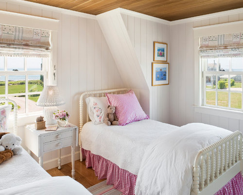 Inspiration for a mid sized beach style girl medium tone wood floor kids   bedroom. Shabby Chic Teen Girls Bedroom   Houzz