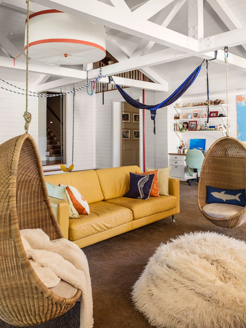 Swing chair design ideas remodel pictures houzz - Hanging chair living room ...