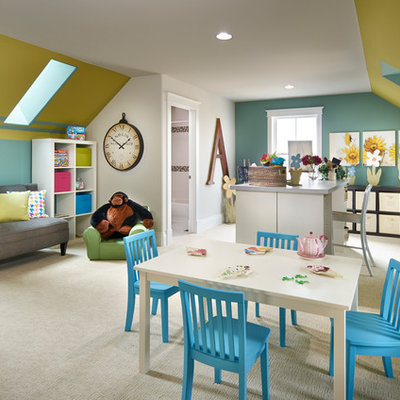 Example of a classic playroom design in Denver