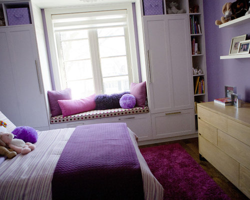 Example of a trendy kids  room design in Toronto. Purple Themed Rooms   Houzz