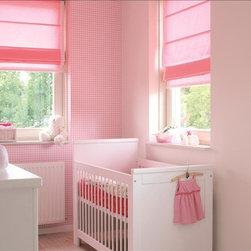 Child-Friendly Roman Shades - Budget Blinds' child-friendly Roman shades shown in pink.
