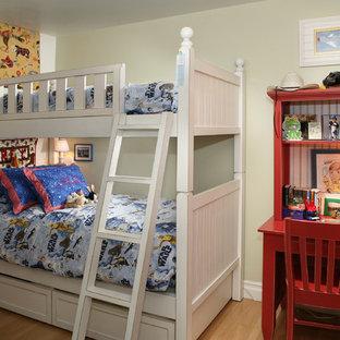 Elegant boy light wood floor kids' room photo in Los Angeles