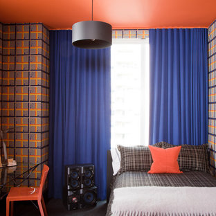 Example of a trendy boy kids' room design in New York