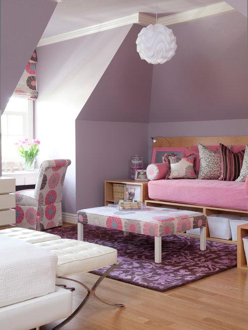 Kidsu0027 Bedroom   Large Traditional Girl Light Wood Floor Kidsu0027 Bedroom Idea  In Little