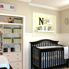Contemporary Kids Clutter free nursery