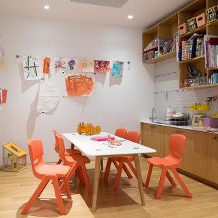 Aménagement d'une chambre d'enfant moderne.