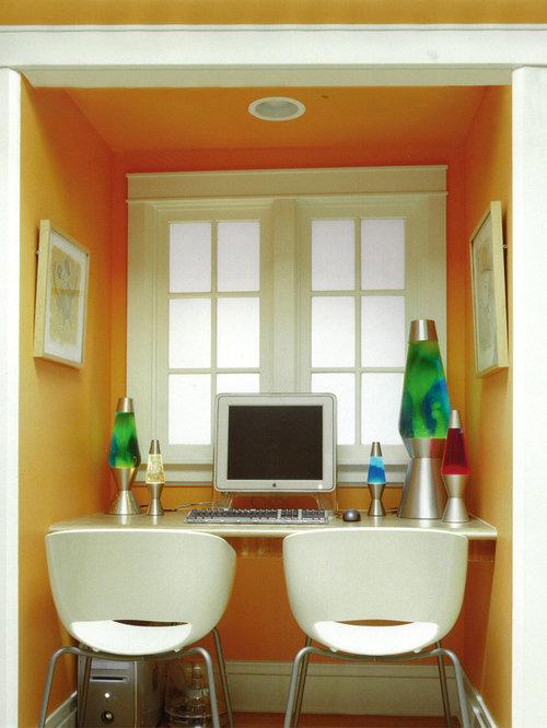 Kidsu0027 Room   Contemporary Kidsu0027 Room Idea In Chicago With Orange Walls