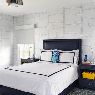 Idéer för funkis pojkrum kombinerat med sovrum och för 4-10-åringar, med flerfärgade väggar