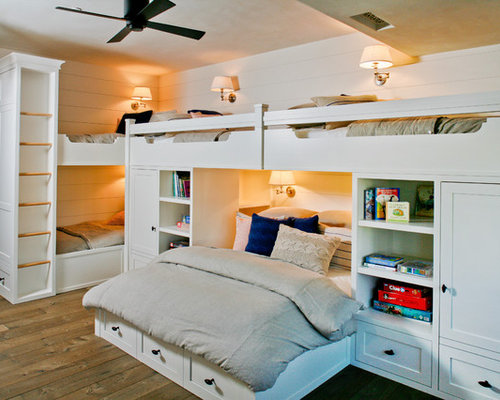 Kids bedroom ideas houzz - Queen bed ideas for small room ...