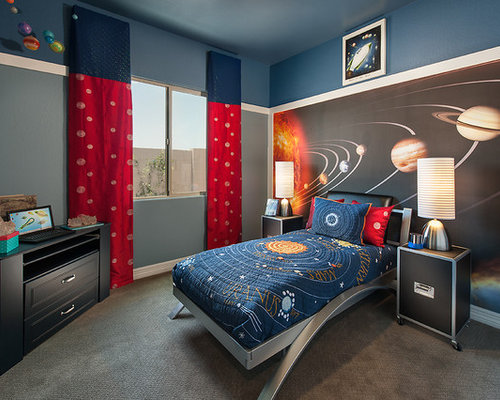 Example of a trendy boy kids  room design in Phoenix. Boys Solar System Bedrooms   Houzz