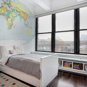 Contemporary Loft Interior Design + Renovation, Kids Bedroom, DUMBO Brooklyn