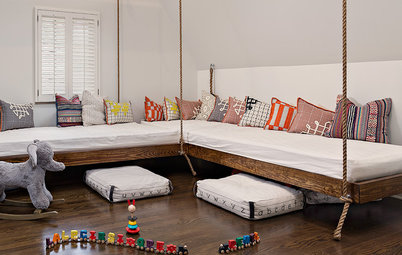 Room of the Day: Hanging Beds Add Fun to a Family's Bonus Room