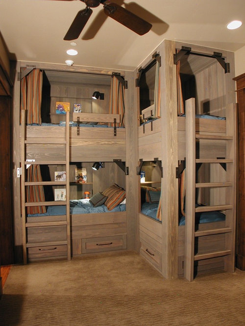 Example of a mountain style kids' bedroom design in Denver