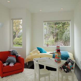 Example of a minimalist playroom design in San Francisco