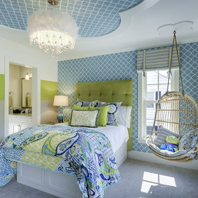 Example of a transitional teen room design in Minneapolis