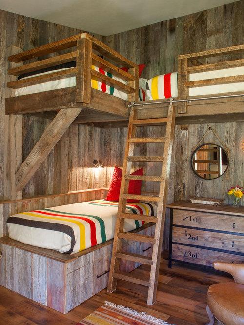 Rustic kids 39 room design ideas remodels photos for Rustic kids room