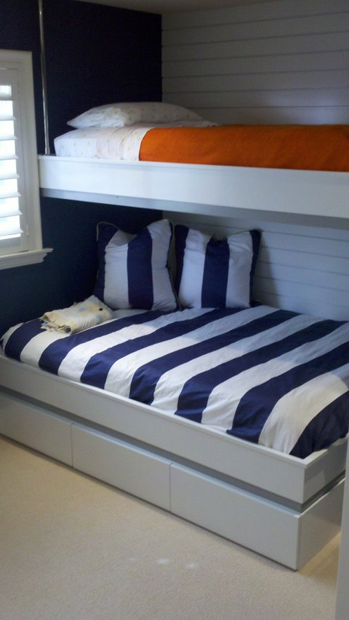 Custom Bunk Beds w/Push Touch Opening Drawers Below