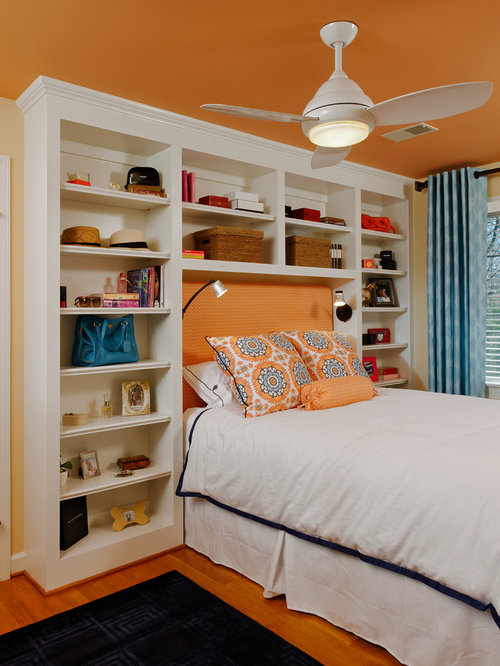 Built In Shelves Around Bed Houzz