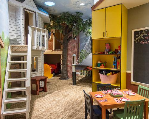 Idee Per Una Cameretta Per Bambini Da 4 A 10 Anni Stile Americano Con  Pareti Multicolore