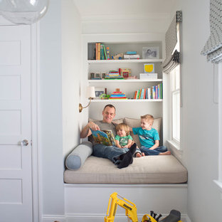 Transitional kids' room photo in New York