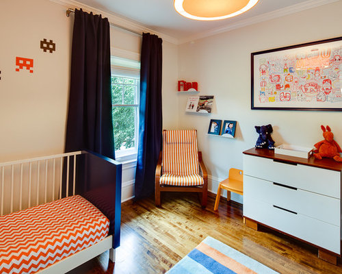Inspiration For A Contemporary Kidsu0027 Room Remodel In Minneapolis With White  Walls