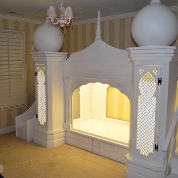 Disney Princess Girls Princess Castle Bed