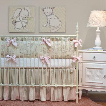 Doodlefish Peony Crib Set
