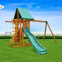 Dreamscape Swing Set - Foot Print 17' x 14' (allow 6' clearance around set)
