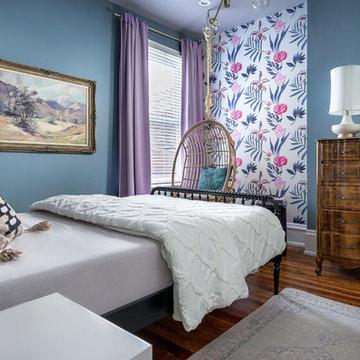 Eclectic Girl's Bedroom & Bathroom