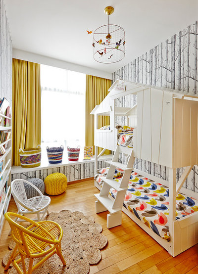 Room Of The Week: A Playful Woodland Bedroom For A Pair Of Girls