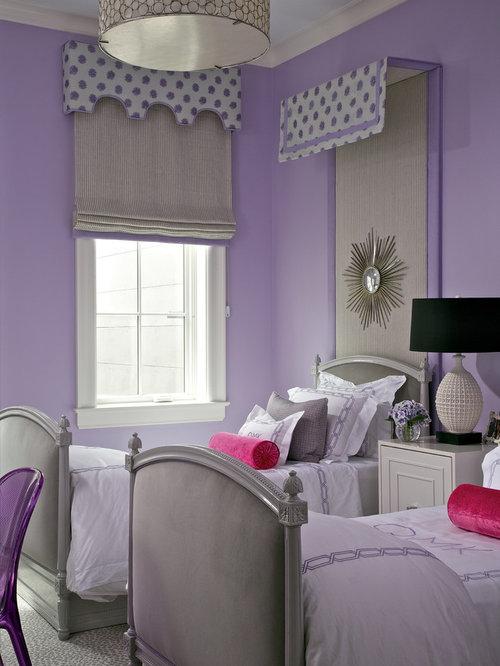 pink purple girls room | houzz