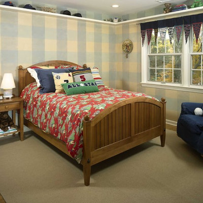 Inspiration for an eclectic gender-neutral carpeted kids' room remodel in Newark