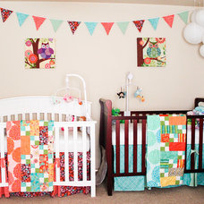 Traditional Kids Eclectic Twin Nursery