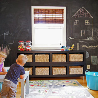 Example of a transitional playroom design in Minneapolis