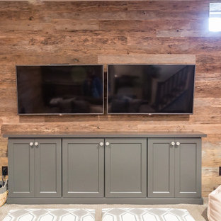 Electronic Entertainment Room and Storage in West Chester Basement