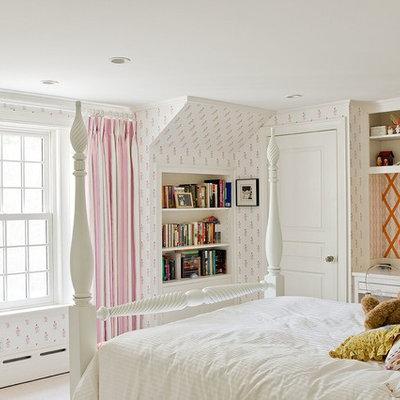 Kids' room - traditional girl kids' room idea in Boston