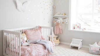 Ella's Pink and Gold Toddler Girl Room