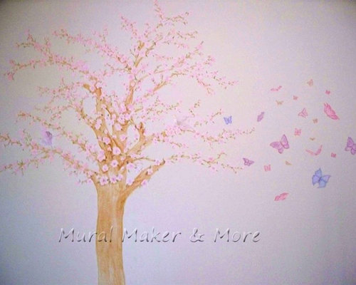 Cherry blossom tree mural for Cherry tree mural