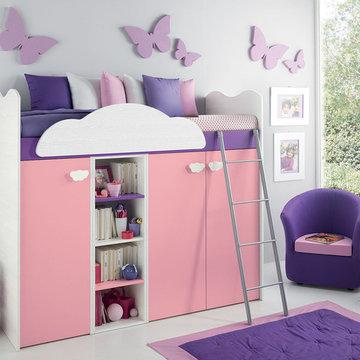 European Kids Storage Loft Bed VV G095 - Call For Price