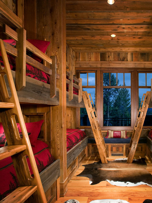 cabin retreat bunk beds with stairs 1