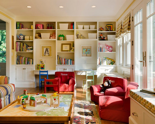 Playroom built ins home design ideas pictures remodel and decor - Playroom office ideas ...