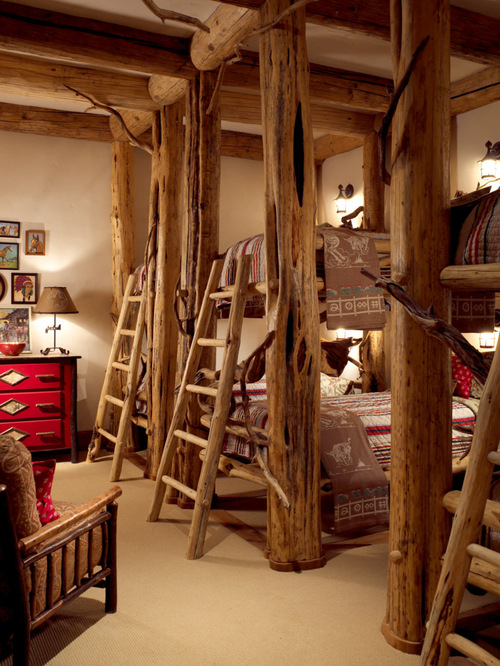 SaveEmail - Rustic Cabin Bunk Bed Houzz