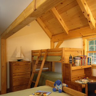 Farmhouse Post and Beam Kids Bedroom