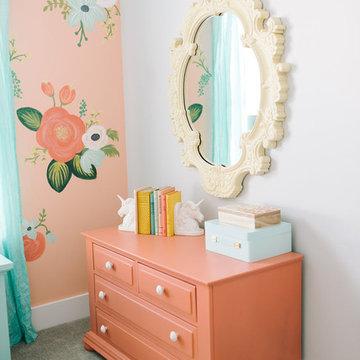 Floral Girls Bedroom by Design Loves Detail
