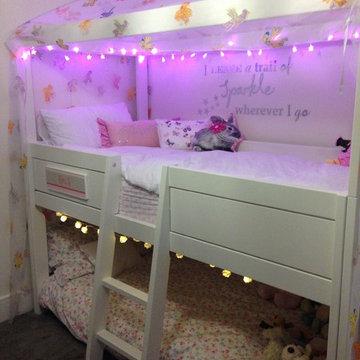 Freebird Girls Four Poster Loft Bed