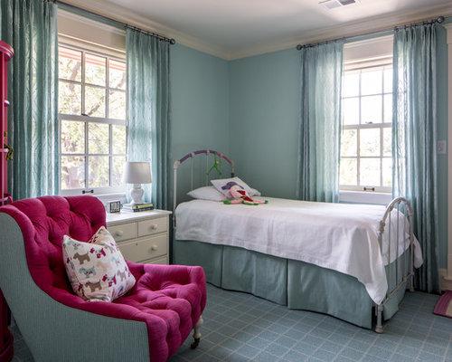 chambre d'ado de luxe avec un mur bleu : Photos et idées déco de ...