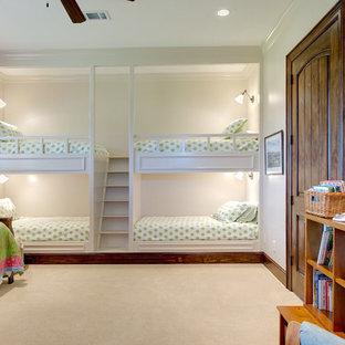 ヒューストンのトラディショナルスタイルのおしゃれな子供部屋 (カーペット敷き、児童向け) の写真