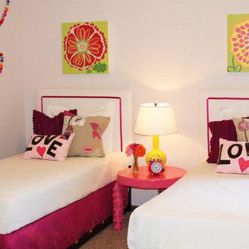 Fun twin girl's room