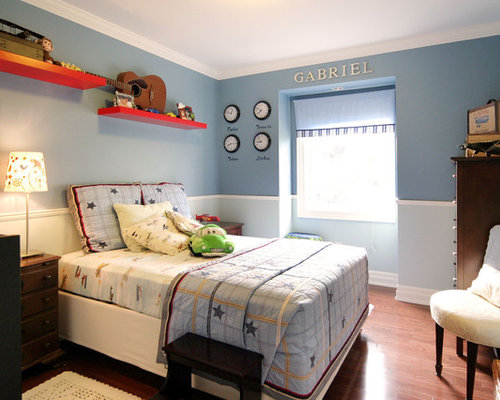 Trendy Kids Room Photo For Boys In Toronto With Blue Walls